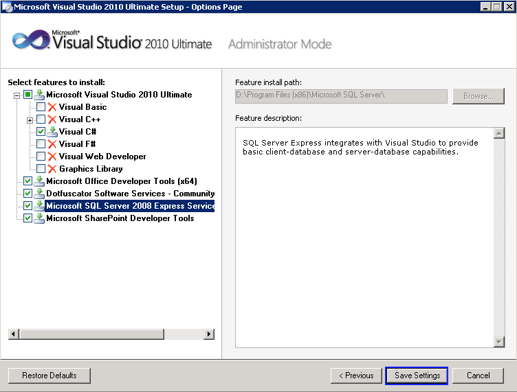 Visual Studio 2010 – Unattended Silent Install | The Code Log