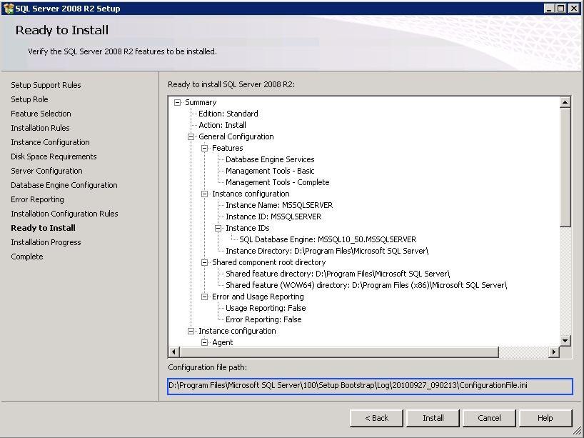 sql server 2008 r2 sp2 express silent install